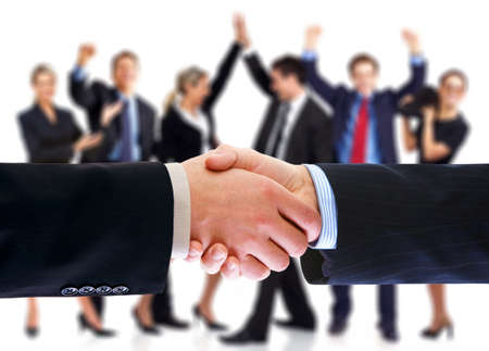 Business people handshake. Stock Photo - 11622644