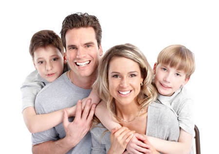 closeup: Happy family.