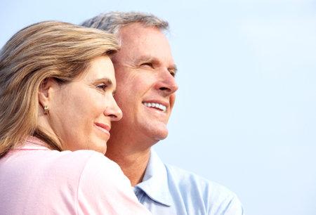 abuelos: Feliz pareja de ancianos.