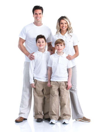 Gelukkig gezin Stockfoto