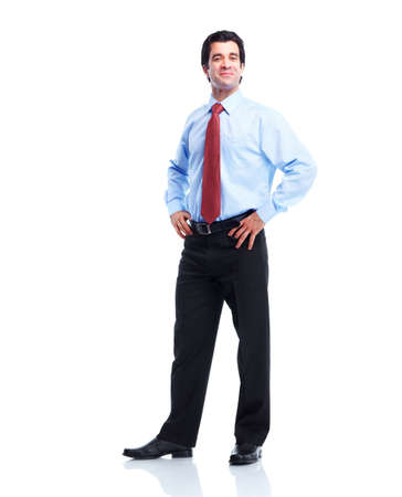 shirt and tie: Happy handsome businessman. Stock Photo