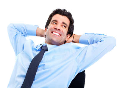 Relaxing handsome businessman. Stock Photo - 11861618