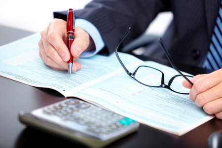 ceo: Accountant businessman. Stock Photo