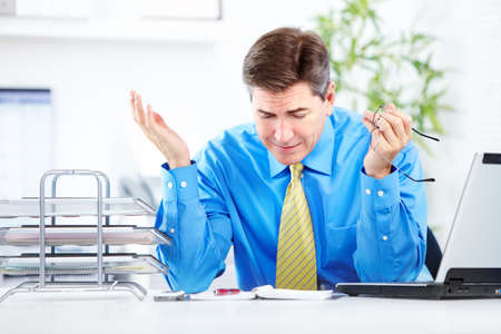 principal: Accountant businessman. Stock Photo