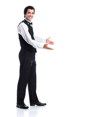 Waiter man. Reklamní fotografie - 11861141