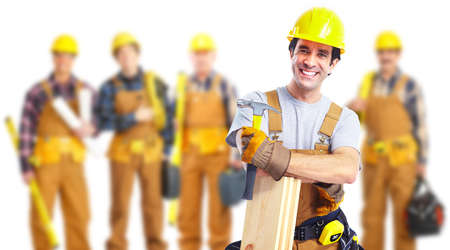 Industrie-arbeiders groep. Stockfoto