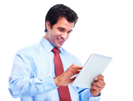 Man with tablet computer. photo