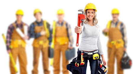 Industrial workers group. Stock Photo - 11861557