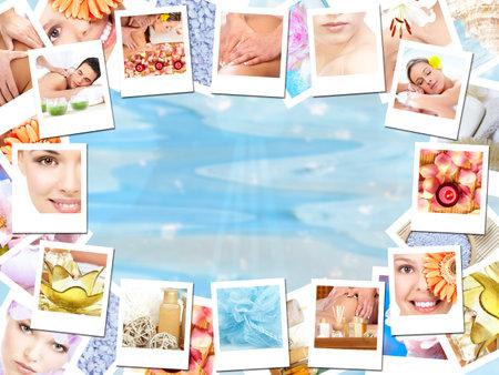 Spa massage background. Stock Photo - 11976618