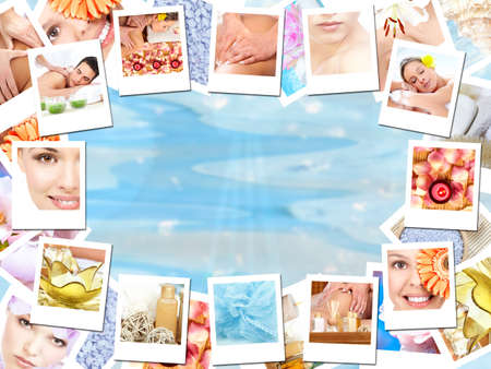 Spa massage background. photo