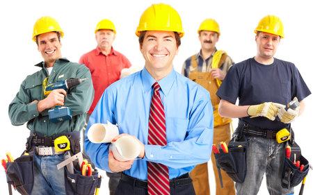 Groupe industriel travailleurs. Banque d'images - 11992316