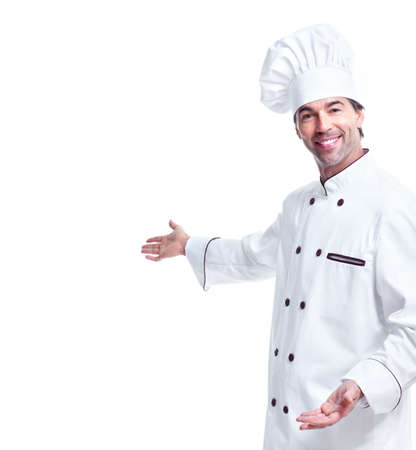 chefs show: Young professional chef man.