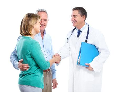 paciente: Doctor y pareja de alto nivel.