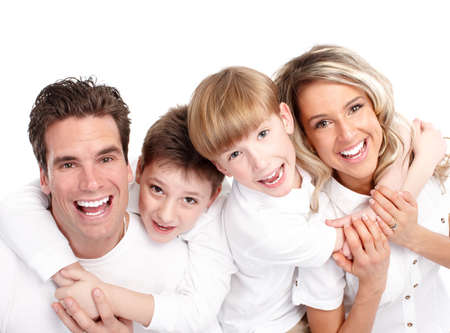 family smile: Happy family.