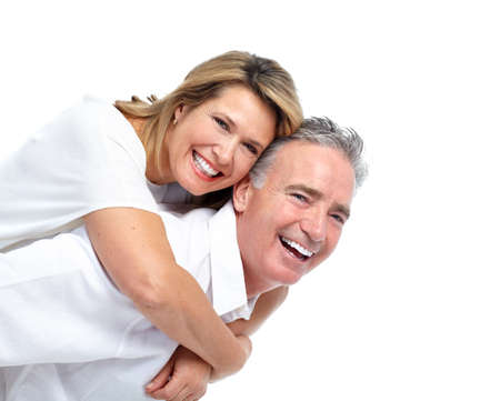 a couple: Happy elderly couple. Stock Photo