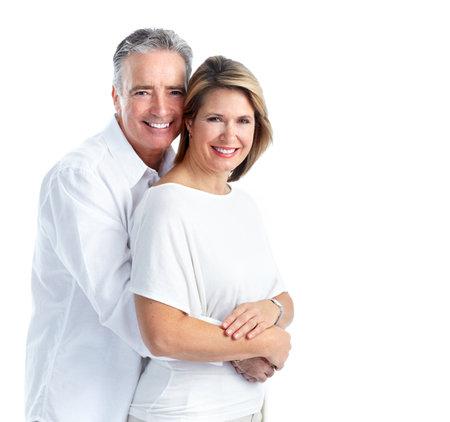 Happy elderly couple. Imagens