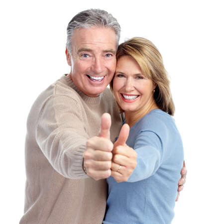 retirement age: Happy elderly couple. Stock Photo