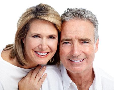dental insurance: Happy elderly couple. Stock Photo