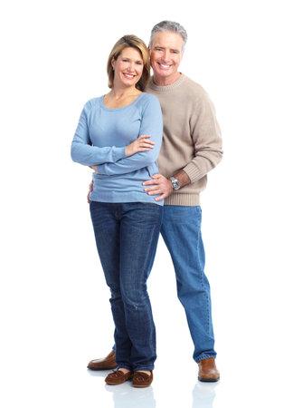 older couples: Happy elderly couple. Stock Photo