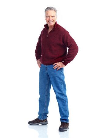 mature male: Happy senior man.