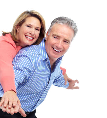 mature couple: Happy elderly couple. Stock Photo
