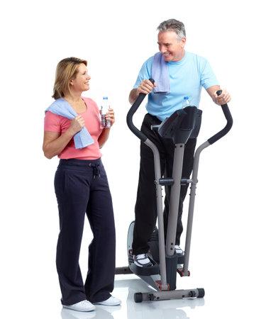 uomo palestra: Fitness Senior.