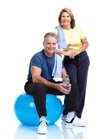 family exercise: Senior fitness.