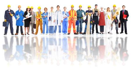 Groep van industrie-arbeiders.