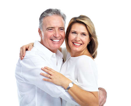 pareja saludable: Feliz pareja de ancianos.