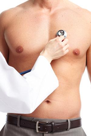 nackte brust: Arzt und Patient. Lizenzfreie Bilder