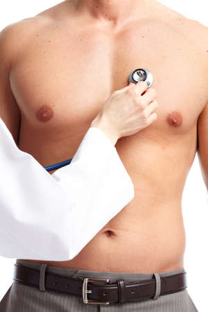 bare chested: Doctor and patient.