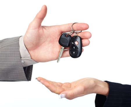 sales person: Car key. Stock Photo