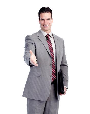 Happy handsome businessman. photo