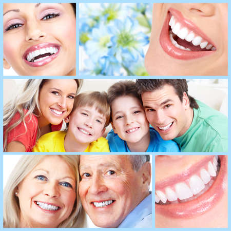 tooth whitening: Happy people sorriso.