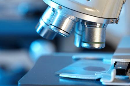Microscope scientifique. Banque d'images - 12087258