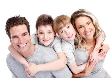 dental: Happy family.