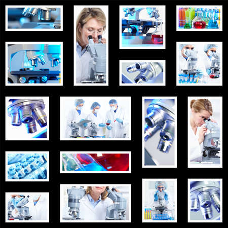 Scientific background collage. Stock Photo - 12137594