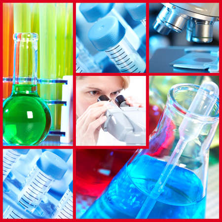 Scientific background collage. Stock Photo - 12137640