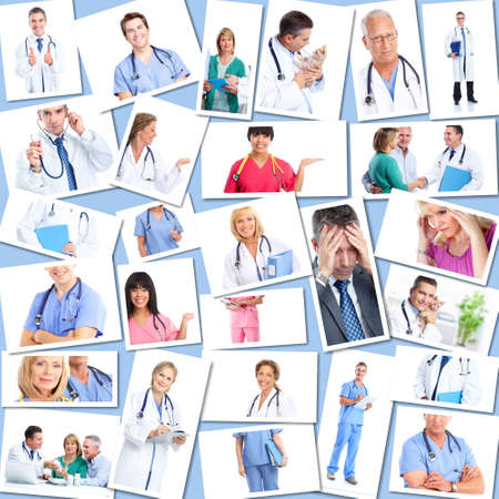 Medical doctors group Collage. Stock Photo - 12137586