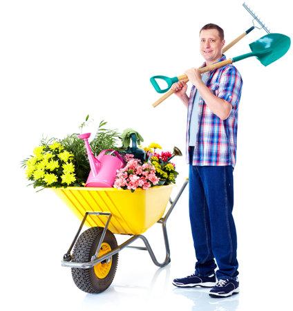 Jardinage homme. Banque d'images
