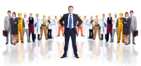사업가와 노동자의 그룹. 스톡 콘텐츠