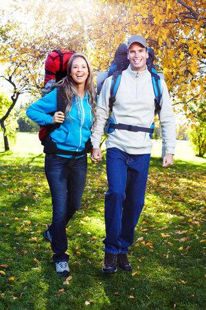 Hiking people. photo