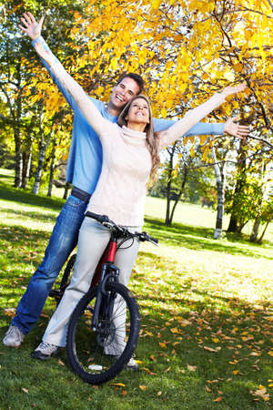 Biking people. photo