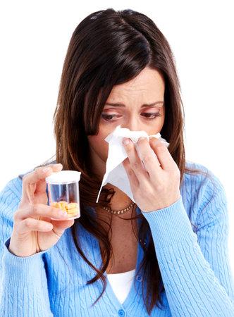 Sneezing girl.