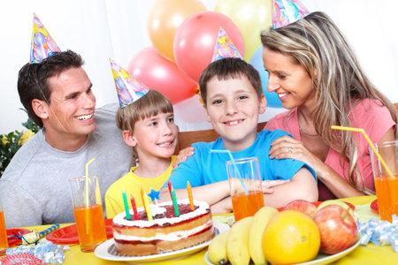 kids birthday party: Happy Birthday. Stock Photo