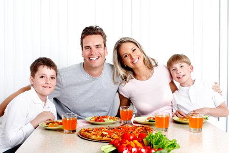 가족의 저녁 식사. 스톡 콘텐츠