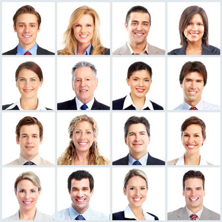 meet: Business people team. Stock Photo