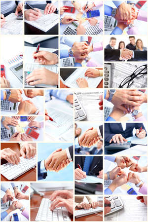 Business collage. photo