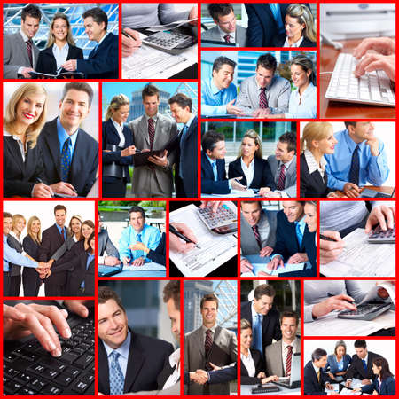 Business people collage. Stock Photo - 12378734