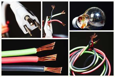Collage of electrical instruments. Stock Photo - 12378865
